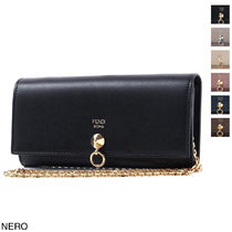 FENDI Calfskin Long Wallets
