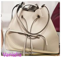 FURLA Casual Style Plain Leather Party Style Purses Office Style
