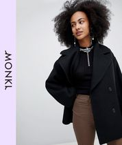 MONKI Casual Style Wool Peacoats