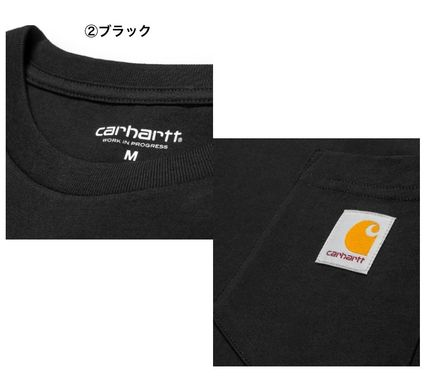Carhartt Long Sleeve Street Style Long Sleeves Plain Cotton Long Sleeve T-Shirts 4