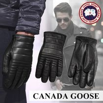 CANADA GOOSE Plain Leather Leather & Faux Leather Gloves