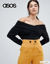 ASOS Casual Style Rib Plain Bandeau & Off the Shoulder