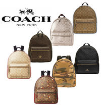 Coach Leather Backpacks