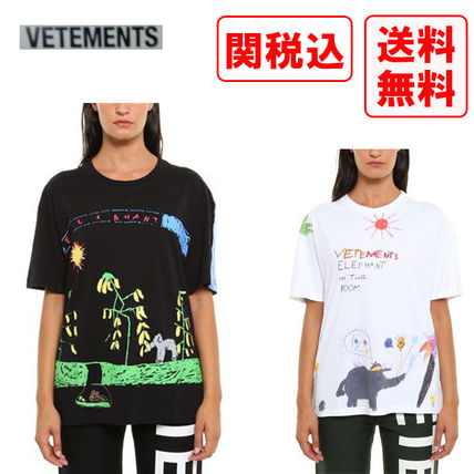 VETEMENTS More T-Shirts Street Style Cotton Short Sleeves T-Shirts