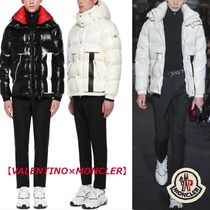 VALENTINO Collaboration Bi-color Plain Leather Down Jackets