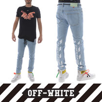 Off-White Unisex Denim Street Style Jeans & Denim