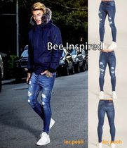 Bee Inspired Clothing Denim Plain Skinny Fit Jeans & Denim