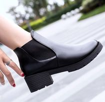 Round Toe Casual Style Chunky Heels Ankle & Booties Boots