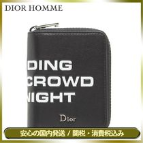 DIOR HOMME Unisex Street Style Plain Leather Long Wallets