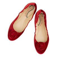 Charlotte Olympia Flower Patterns Round Toe Plain Elegant Style Flats