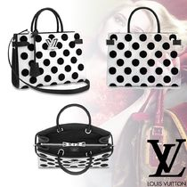 Louis Vuitton EPI Dots Leather Elegant Style Totes