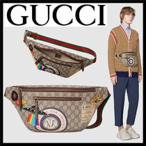 GUCCI Stripes Star Unisex Canvas Blended Fabrics Street Style 2WAY