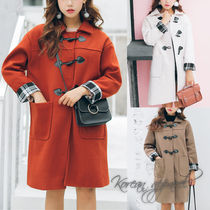 Casual Style Long Duffle Coats