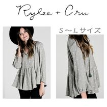 Rylee & Cru Star Casual Style V-Neck Long Sleeves Cotton Medium