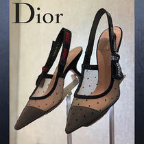 Christian Dior JADIOR Dots Leather Pin Heels Elegant Style