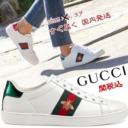 db6e244450f GUCCI Ace 2018 SS Leather Low-Top Sneakers by Joyfully - BUYMA