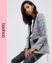 boohoo Other Check Patterns Casual Style Jackets