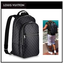 Louis Vuitton DAMIER GRAPHITE Canvas A4 Backpacks