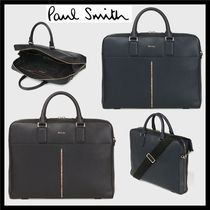 Paul Smith Stripes Unisex A4 2WAY Leather Business & Briefcases