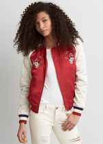 American Eagle Outfitters Short Flower Patterns Street Style Varsity Jackets