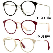 MiuMiu Unisex Round Optical Eyewear