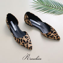 Leopard Patterns Casual Style Spawn Skin Slip-On Shoes