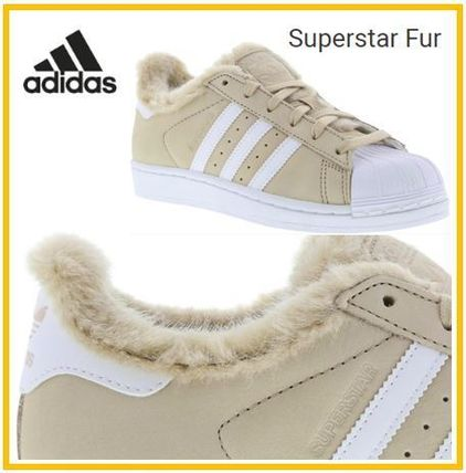 3b3aa8b1c1b911 adidas SUPERSTAR Suede Low-Top Sneakers (ADIDAS SUPERSTAR FUR) by ...