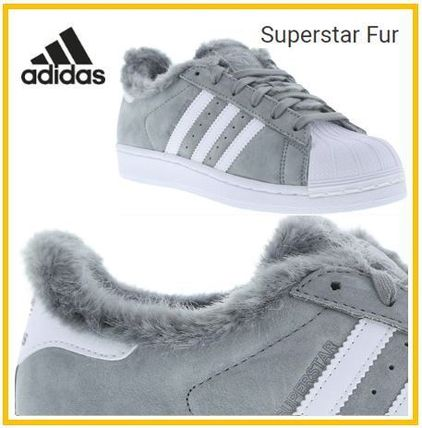 adidas SUPERSTAR Faux Fur Low-Top Sneakers