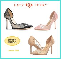Katy Perry Open Toe Blended Fabrics Leather Elegant Style
