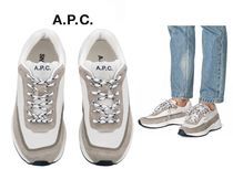 A.P.C. Round Toe Casual Style Unisex Blended Fabrics Leather