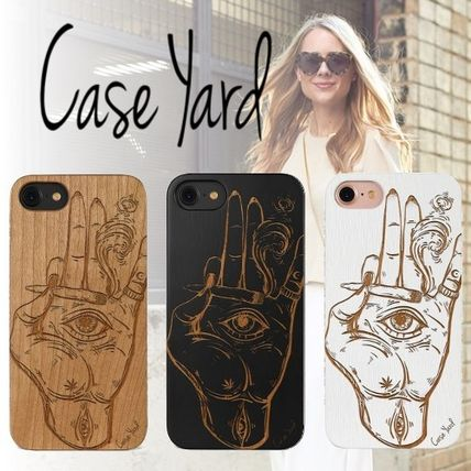 Unisex Blended Fabrics Made of Wood Smart Phone Cases