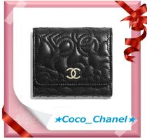 CHANEL ICON Lambskin Folding Wallets