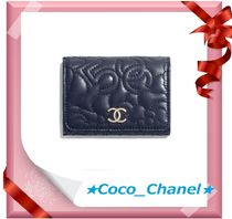CHANEL ICON Lambskin Small Wallet Folding Wallets