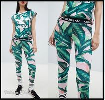 adidas Tropical Patterns Casual Style Street Style Skinny Pants