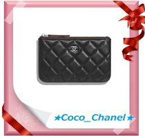 CHANEL TIMELESS CLASSICS Lambskin Plain Pouches & Cosmetic Bags