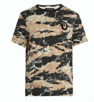 Crew Neck Camouflage Cotton Short Sleeves Crew Neck T-Shirts