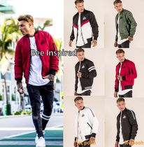 Bee Inspired Clothing Short Street Style Plain Varsity Jackets