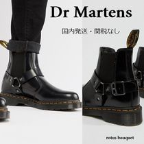 Dr Martens Plain Toe Street Style Plain Leather Boots