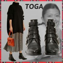 TOGA Casual Style Plain Leather Ankle & Booties Boots