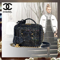CHANEL Blended Fabrics Vanity Bags 2WAY Chain Python Elegant Style