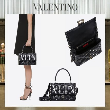 Valentino Handbags Casual Style Studded Leather