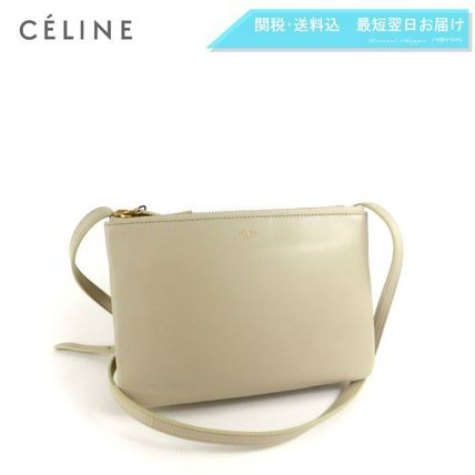 CELINE Shoulder Bags 2WAY Plain Leather Elegant Style Shoulder Bags 3
