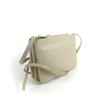 CELINE Shoulder Bags 2WAY Plain Leather Elegant Style Shoulder Bags 5