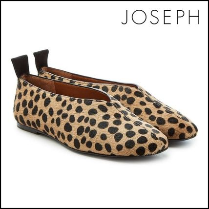 Leopard Patterns Round Toe Casual Style Loafer Pumps & Mules