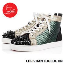 Christian Louboutin LOUIS Other Check Patterns Mountain Boots Blended Fabrics Studded