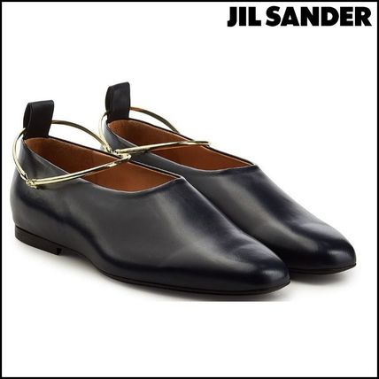 Square Toe Casual Style Leather Loafer Pumps & Mules