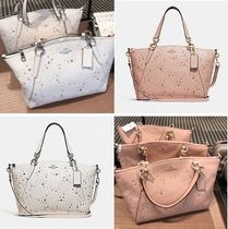 Coach Star Studded Street Style 2WAY Plain Leather Elegant Style