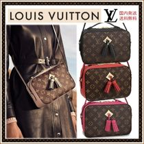 Louis Vuitton MONOGRAM Monogram Casual Style Calfskin Fringes Shoulder Bags