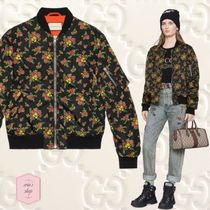 GUCCI Short Flower Patterns Casual Style Wool Blended Fabrics