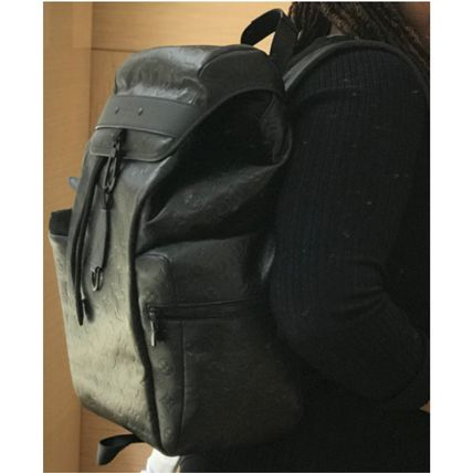 Louis Vuitton Backpacks Monogram Blended Fabrics Street Style A4 Leather Backpacks 2